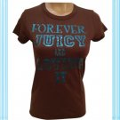 Juicy Couture Brown Short Sleeve Forever Juicy Tee Shirt M NWM
