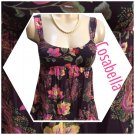 Cosabella Black Paisley Short Babydoll Soiree Sleep Dress M NWT