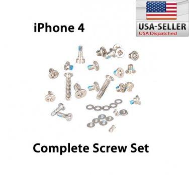 Complete Full Screws Set With 2 Botton Pentalobe Screw Replacement For Apple iPhone 4 CDMA 4G