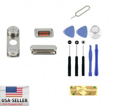 Side Button Power Volume Mute Switch Key Set Replacement iPhone 4 4G + Tool Set