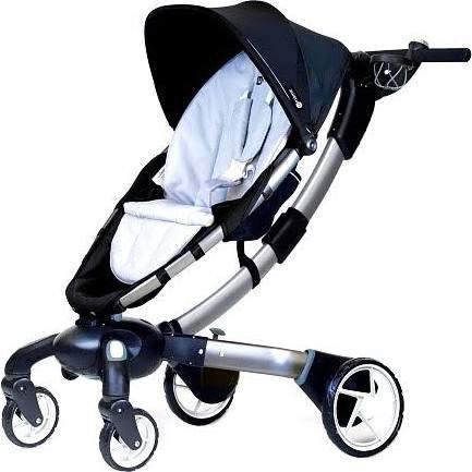 4moms Origami Power Folding Stroller - Silver