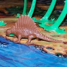 Multiple Plastics Corporation (MPC) Post-1970s Recast Dimetrodon Brown; Prehistoric Reptile