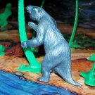 Multiple Plastics Corporation (MPC) 1960s Prehistoric Mammal Megatherium, Metallic Blue-Gray