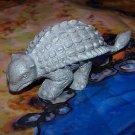 Marx 1950s-1964 Ankylosaurus Type I Dinosaur, Pebbly Belly, Medium Gray