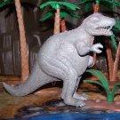 Marx 1950s Tyrannosaurus Type I Dinosaur, Gray w/Scattered Red Marbling