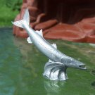 Post-1970s Marx Sea Creatures: Barracuda, Recast, Silver-colored Plastic