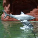 Post-1970s Marx Sea Creatures: Shark, Recast, Silver-colored Plastic