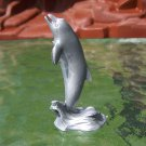Post-1970s Marx Sea Creatures: Dolphin, Recast, Silver-colored Plastic
