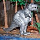 Marx 1950s Tyrannosaurus Type I Dinosaur, Scarce Silver-Colored