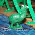 Prehistoric Diatryma-type Bird, Panosh #41, 1987, Green