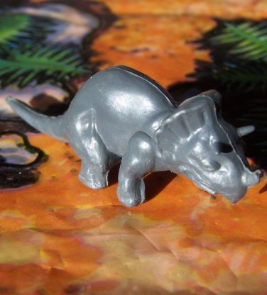 Nabisco 1950s-1960s Triceratops Dinosaur Cereal Premium, Dark Gray