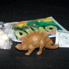 SCARCE 1988 Topps Plastic Dinosaur Stegosaurus, Brown, Wrapper, ID Sheet, Candy Eggs