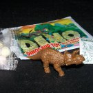 SCARCE 1988 Topps Plastic Dinosaur Triceratops, Brown, Wrapper, ID Sheet, Candy Eggs