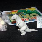 SCARCE 1988 Topps Plastic Dinosaur Allosaurus, Gray, Wrapper, ID Sheet, Candy Eggs