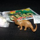 SCARCE 1988 Topps Plastic Dinosaur Brontosaurus, Brown, Wrapper, ID Sheet, Candy Eggs