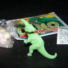 SCARCE 1988 Topps Plastic Dinosaur Parasaurolophus, Green, Wrapper, ID Sheet, Candy Eggs