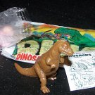 SCARCE 1988 Topps Plastic Dinosaur Allosaurus, Brown, Wrapper, ID Sheet, Candy Eggs