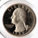 US 1989-S Proof Washington Quarter Dollar ~ Clearance