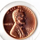U.S. 1963 Proof Lincoln Cent