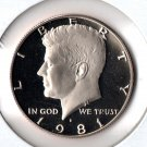 U.S. 1981-S Proof Kennedy Half Dollar