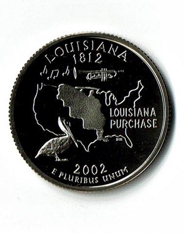 U.S. 2002-S Proof Louisiana State Washington Quarter.