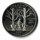U.S. 2001-S Proof Vermont State Washington Quarter