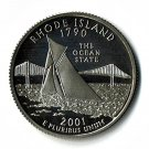 U.S. 2001-S Proof Rhode Island State Washington Quarter