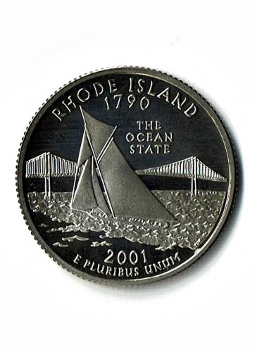 U.S. 2001-S Proof Rhode Island State Washington Quarter