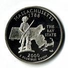 U.S. 2000-S Proof Massachusetts State Washington Quarter
