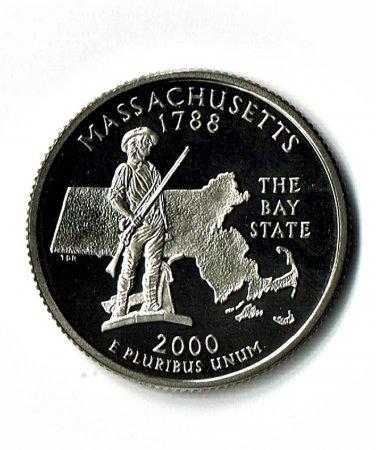 U.S. 2000-S Proof Massachusetts State Washington Quarter