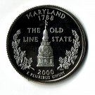 U.S. 2000-S Proof Maryland State Washington Quarter