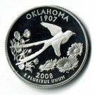 U.S. 2008-S Proof Oklahoma State Washington Quarter