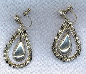 FREE SHIPPING! VTG. MEXICO STERLING SILVER EARRINGS