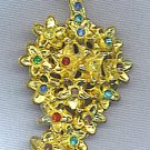 DRESS CLIP WITH COLORFUL RHINESTONES, VINTAGE