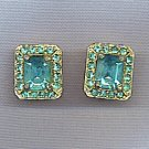 SPLENDID VTG. BLUE TOPAZ EARRINGS