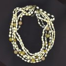 **SALE!!** FREE SHIPPING! 6 STRAND SUGAR BEAD NECKLACE