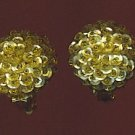 SPARKLING VTG. GOLD  SEQUINED EARRINGS