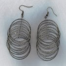 FREE SHIPPING!! SALE!! DANGLING HOOP EARRINGS, PIERCED