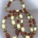 "EXQUISITE 35"" VINTAGE BEAD NECKLACE"