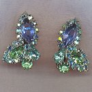 WEISS GLITTERING VTG. RHINESTONE EARRINGS