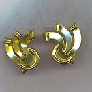 VTG. GOLD OVER STERLING EARRINGS