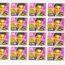 ELVIS PRESLEY MINT POSTAGE STAMPS, 20 IN BLOCK