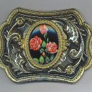 BEAUTIFUL BELT BUCKLE WITH ROSES