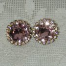 GORGEOUS VTG. LAVENDER RHINESTONE EARRINGS