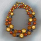 **SALE!!** FREE SHIPPING!! SPECTACULAR VINTAGE 2 STRAND BEAD NECKLACE