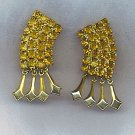 ELEGANT VTG. RHINESTONE EARRINGS