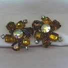 KRAMER VTG. RHINESTONE EARRINGS