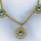 B. & N. VINTAGE RHINESTONE & FILIGREE NECKLACE