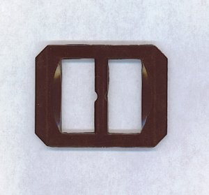 BAKELITE BUCKLE IN WINE COLOR
