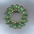 SALE!! EXQUISITE SPRING GREEN VTG. BROOCH
